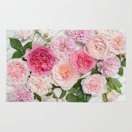 Pink flower rugs society6 pink flowers rug mightylinksfo