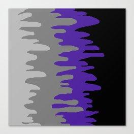 Splash of colour (purple & gray) Canvas Print