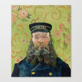The Postman by Vincent van Gogh Canvas Print