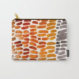Yellow Ochre Brown Dark Brown Fall Autumn Color Palette Natural Patterns Colorful WatercolorAbstract Carry-All Pouch
