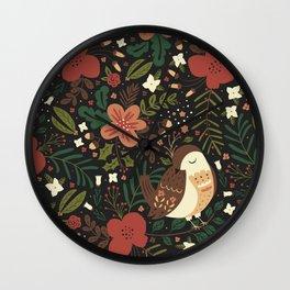 Christmas Robin Wall Clock