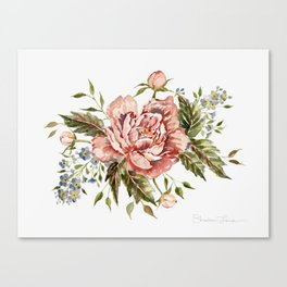 Pink Wild Rose Bouquet Canvas Print