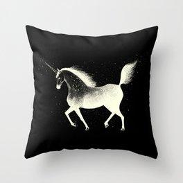 The Unicorn of the Night Throw Pillow