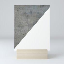 Concrete Vs White Mini Art Print