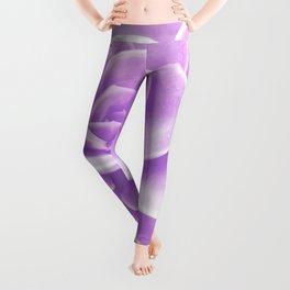 Purple Succulent Reflection Leggings