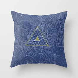 Strands of Light Throw Pillow