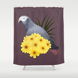 Timneh African Grey Shower Curtain