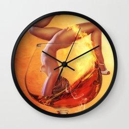 Girl in Glass Wall Clock