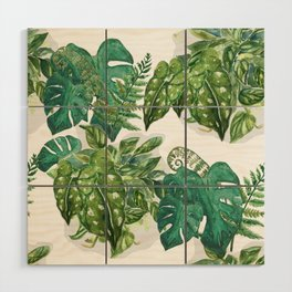 A Pattern of Plants Wood Wall Art