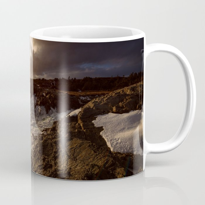 Evening Light and Surf Coffee Mug
