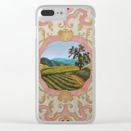 French Panel Clear iPhone Case