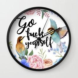 Go Fuck Yourself Wall Clock