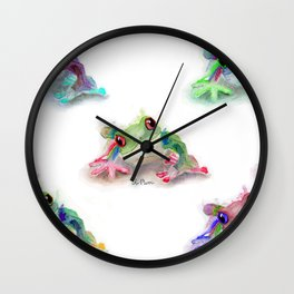 Tree Frog Pattern Wall Clock
