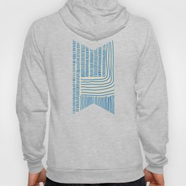 Digital Stitches thick beige + blue Hoody