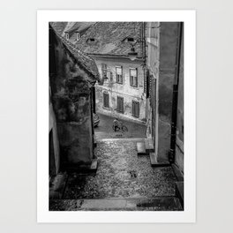 Boy with Bicycle Art Print