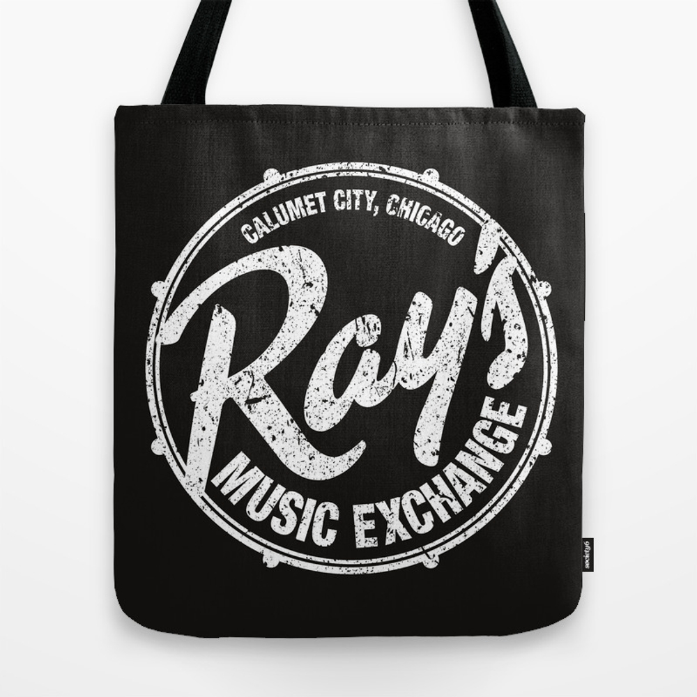 Ray's Music Exchange - White Tote Bag by Axemangraphics TBG6114700
