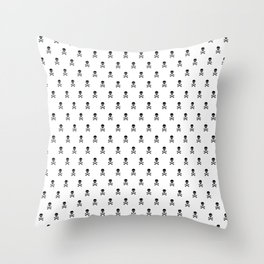 BLACK SKULLS ALL OVER PRINT LARGE Throw Pillow