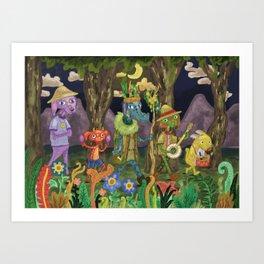 A Twilight Parade Art Print