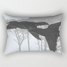 Crow Goes Hunting Rectangular Pillow