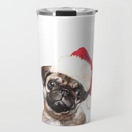 Christmas Pug Travel Mug