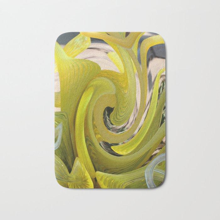 Yellow Abstract Bath Mat