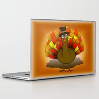 scott pilgrim Laptop & iPad Skins featuring Thanksgiving Turkey Pilgrim by Gravityx9