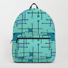 Intersecting Lines in Mint and Blues Backpack