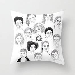 GRL PWR 2 Throw Pillow