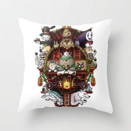 Ghibli Izakaya Print Coloured Throw Pillow