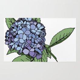 Hydrangea Blue Rug