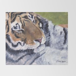 Nice Putty Cat by Teresa Thompson Throw Blanket