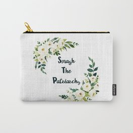 Smash The Patriarchy - A Beautiful Floral Print Carry-All Pouch