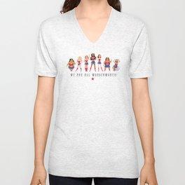 We Are All Wonderwomen! Unisex V-Neck