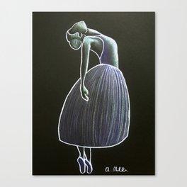 Purple Ballerina Canvas Print