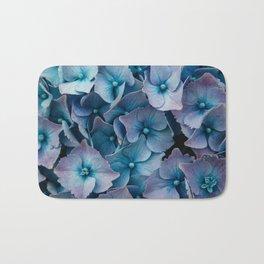 Blue Summer Hydrangeas Bath Mat