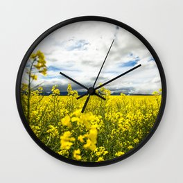Fields of yellow - Floral Photography #Society6 Wall Clock
