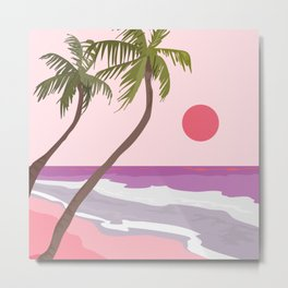 Tropical Landscape 01 Metal Print