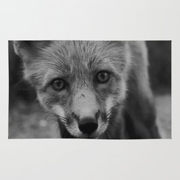 The Fox (Black and White) Rug