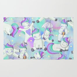 Unicorn Frolicking Rug