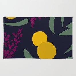 Abtract Garden by Night Rug