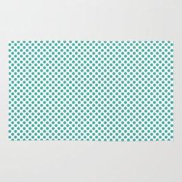 Turquoise Polka Dots Rug