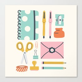 Stationery Love Canvas Print