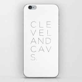 Cleveland Cavs Stack iPhone Skin