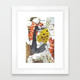 Fonda Flower Collage Framed Art Print