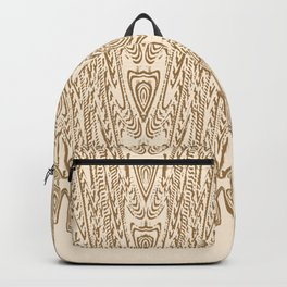 Sepia Macramé Arrowhead Chenille Lace Pattern Backpack