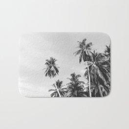 Palms Trees on the San Blas Islands, Panama - Black & White Bath Mat