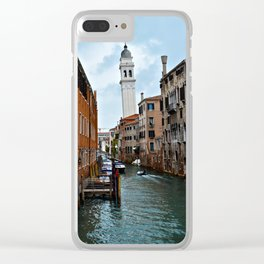 Leaning Venice Clear iPhone Case