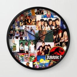 90's Nostalgia Wall Clock