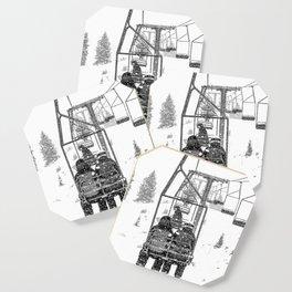 Snow Lift // Ski Chair Lift Colorado Mountains Black and White Snowboarding Vibes Photography Coaster