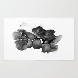 Black Geranium in White Rug
